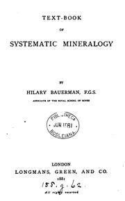 Cover of: Text-book of systematic mineralogy | Bauerman, H.