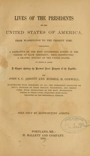 Cover of: Lives of the presidents of the United States of America: from Washington to the present time