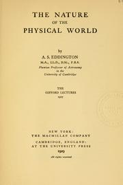 Cover of: The nature of the physical world
