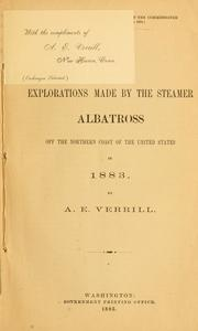 Cover of: Results of the explorations made by the steamer Albatross off the northern coast of the United States in 1883