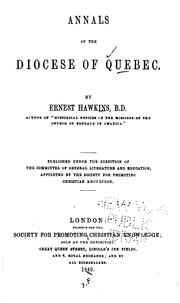 Cover of: Annals of the Diocese of Quebec