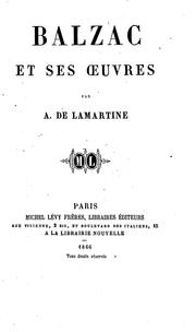 Cover of: Balzac et ses oeuvres