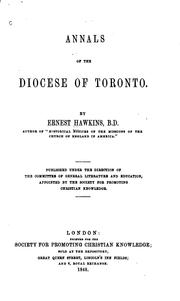 Cover of: Annals of the Diocese of Toronto