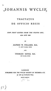 Cover of: Tractatus de officio regis