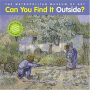 Cover of: Can you find it outside?