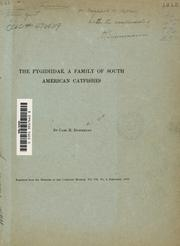 Cover of: The Pygidiidæ