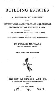 Cover of: Building estates | Fowler Maitland