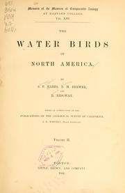 Cover of: The water birds of North America