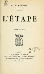 Cover of: L' étape