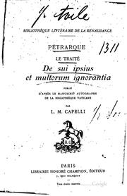 Cover of: Pétrarque