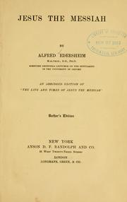 Jesus the Messiah by Alfred Edersheim