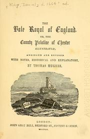 Cover of: The Vale Royal of England
