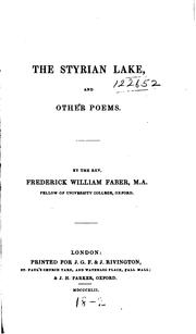 Cover of: The Styrian lake, and other poems