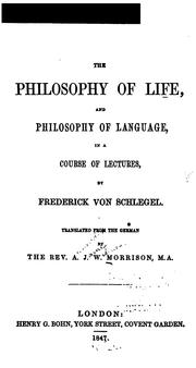 Cover of: The philosophy of life, and philosophy of language