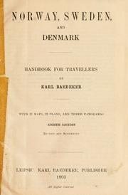 Cover of: Norway, Sweden, and Denmark | Karl Baedeker (Firm)