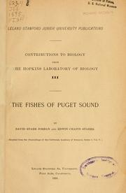 Cover of: The fishes of Puget sound