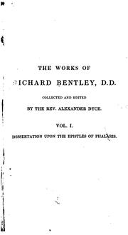 Cover of: The works of Richard Bentley