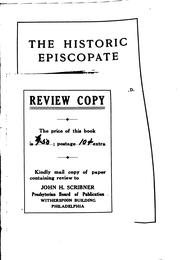Cover of: The historic episcopate