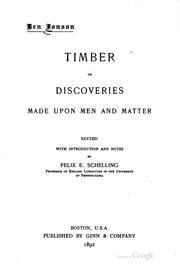 Cover of: Timber