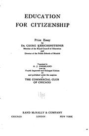 Cover of: Education for citizenship: prize essay