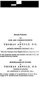 Cover of: Introductory lectures on modern history | Arnold, Thomas