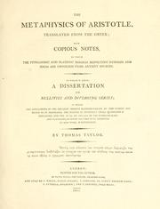 Cover of: The metaphysics of Aristotle | Aristotle