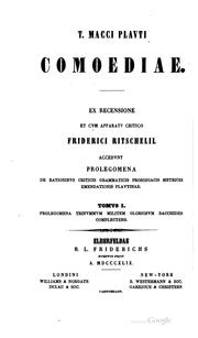 Cover of: T. Macci Plauti Comoediae