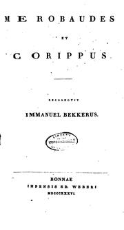 Cover of: Merobaudes et Corippus