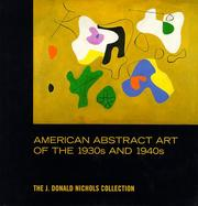Cover of: American abstract art of the 1930