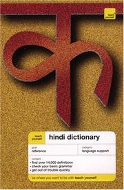 Cover of: Teach Yourself Hindi Dictionary | Rupert Snell