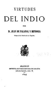 Cover of: Virtudes del Indio