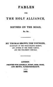 Cover of: Fables for the Holy alliance | Thomas Moore