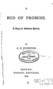 Cover of: A bud of promise |