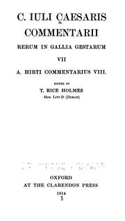Cover of: C. Iuli Caesaris Commentarii rerum in Gallia gestarum VII