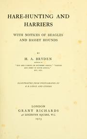 Cover of: Hare-hunting and harriers | H. A. Bryden