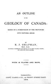 Cover of: An outline of the geology of Canada