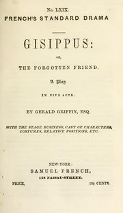 Cover of: Gisippus; or, The forgotten friend