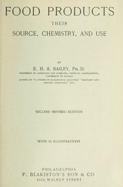 Cover of: Food products | E. H. S. Bailey