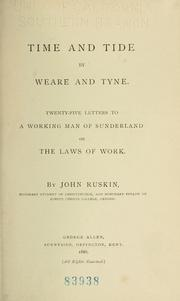 Cover of: Time and tide | John Ruskin