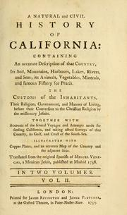 A  natural and civil history of California by Miguèl Venegas