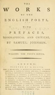 Cover of: The works of the English poets | Samuel Johnson