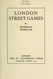 Cover of: London street games