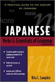Cover of: Japanese Verbs and Essentials of Grammar | Rita Lampkin