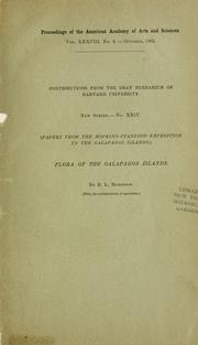 Cover of: Flora of the Galápagos Islands | B. L. Robinson