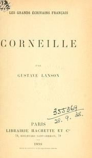 Cover of: Corneille