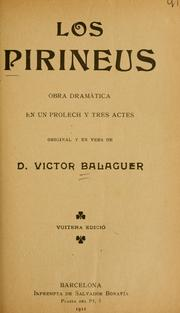 Cover of: Los pirineus