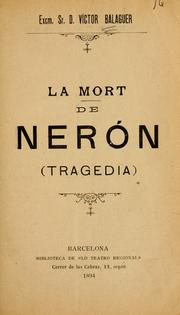 Cover of: La mort de Nerón