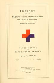 Cover of: History of the Twenty-third Pennsylvania volunteer infantry, Birneys Zouaves