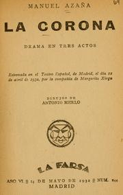 Cover of: La corona: drama en tres actos