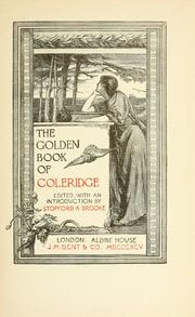 Cover of: The golden book of Coleridge